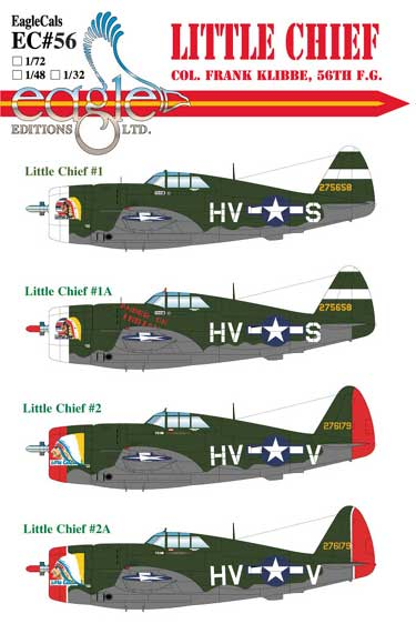 EagleCals #56-48 Little Chief P-47-0