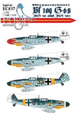 EagleCals #37-48 Bf 109 G-6s-0