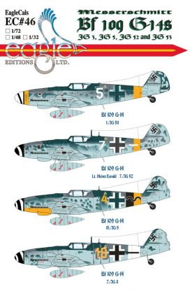EagleCals #46-32 Bf 109 G-14s-0