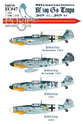 EagleCals #47-32 Bf 109 G-6 Trops-0