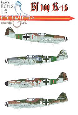 EagleCals #15-72 Bf 109 K-4s-0