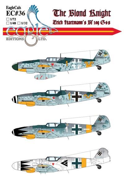 EagleCals #36-72 The Blond Knight Erich Hartmann-0