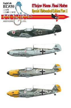 EagleCals #50-48 Bf 109 Assi Hahn E-3 and E-4-0
