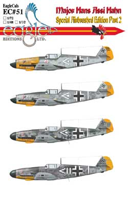EagleCals #51-32 Bf 109 Assi Hahn F-2s and F-4s-0