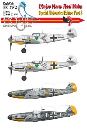 EagleCals #52-32 Bf 109 Assi Hahn part three-0
