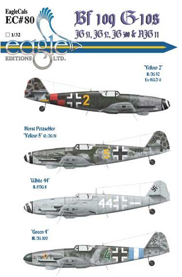 EagleCals #80-32 Bf 109 G-10s-0