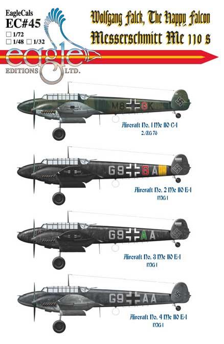 EagleCals #45-32 Wolfgang Falck Me 110s-0