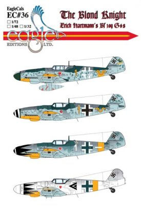 EagleCals #36 The Blond Knight, Erich Hartmann's Bf 109 G-6s-0