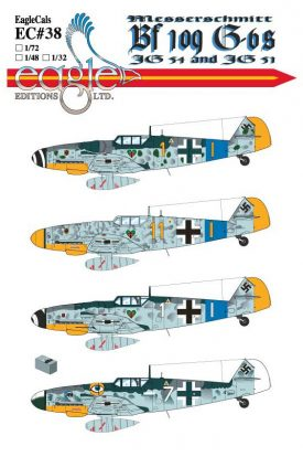 EagleCals #38 Bf 109 Gs-0