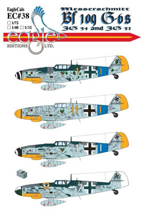 EagleCals #38 Bf 109 Gs-0