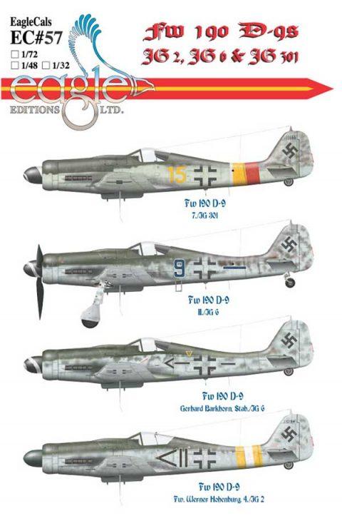 EagleCals #57 Fw 190 D-9s -0