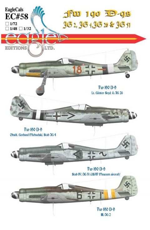 EagleCals #58 Fw 190 D-9s -0