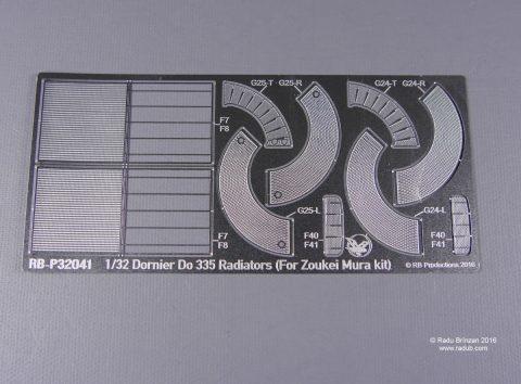 RB-32041 Dornier Do 335 Radiators for the 1/32nd scale Zoukei Mura Do 335 kit-0