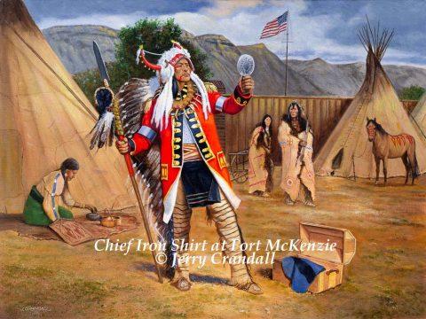 Chief Iron Shirt at Fort McKenzie-0