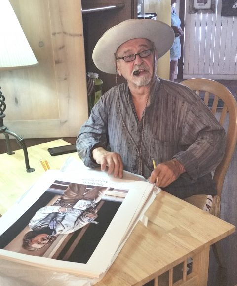 Peter Sherayko as Texas Jack Vermillion signed print-3096