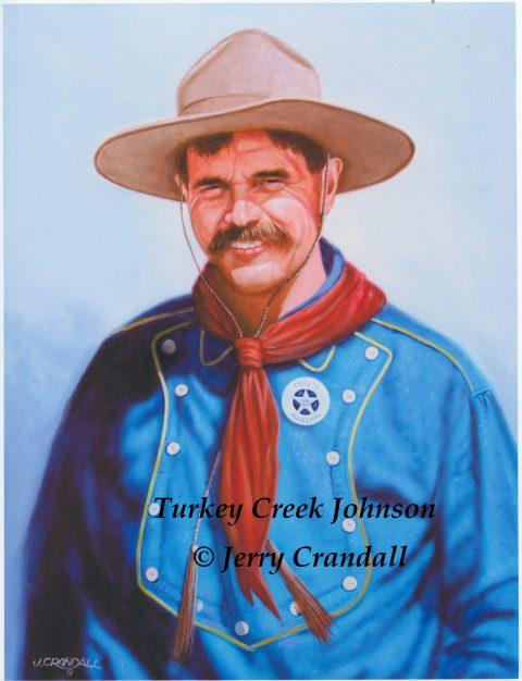 Buck Taylor as Turkey Creek Jack Johnson original oil by Jerry Crandall-0
