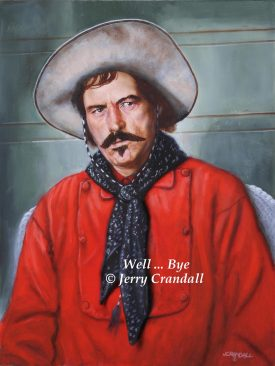 Powers Booth as Curly Bill Brocius original painting-0