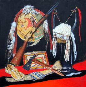 Cheyenne Memories oil by Jerry CRandall