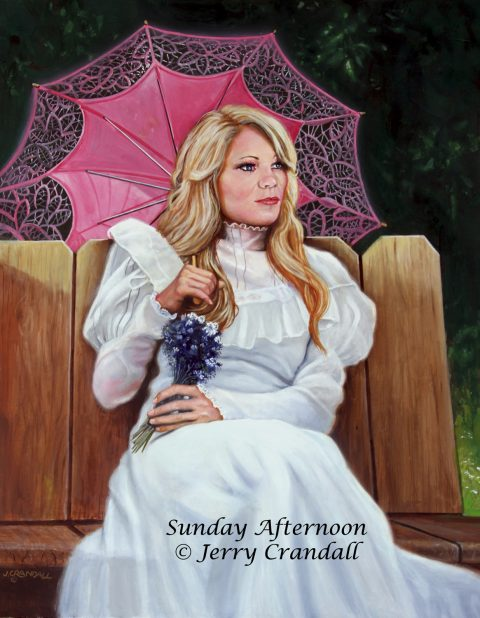Sunday Afternoon original oil by Jerry Crandall-0