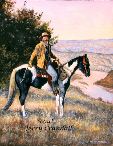 Scout original oil by Jerry Crandall-0